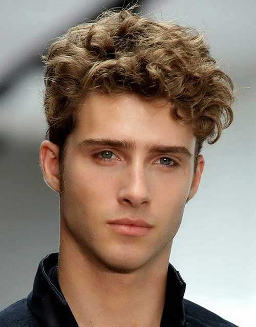 Curly Simple Hairstyles for Boys