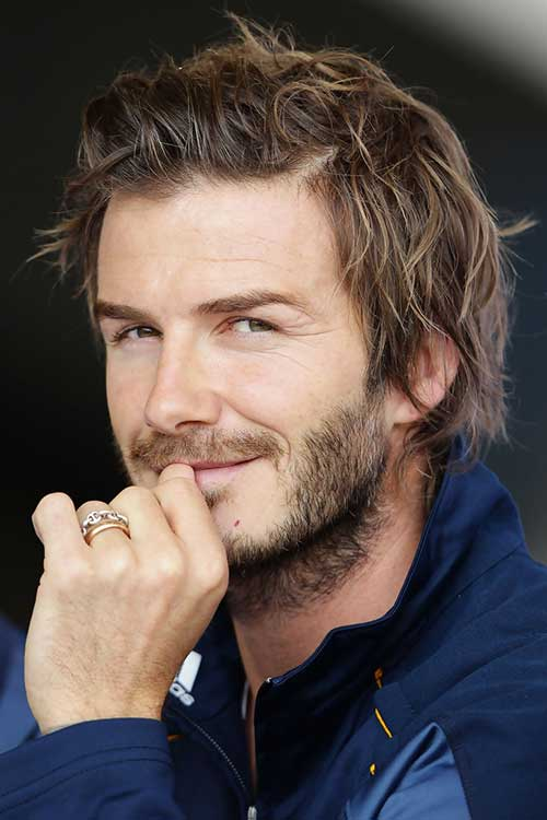 David Beckham Messy Short Hair