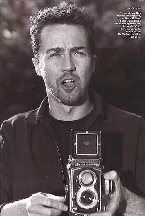Edward Norton Best Hollywood Hairstyles