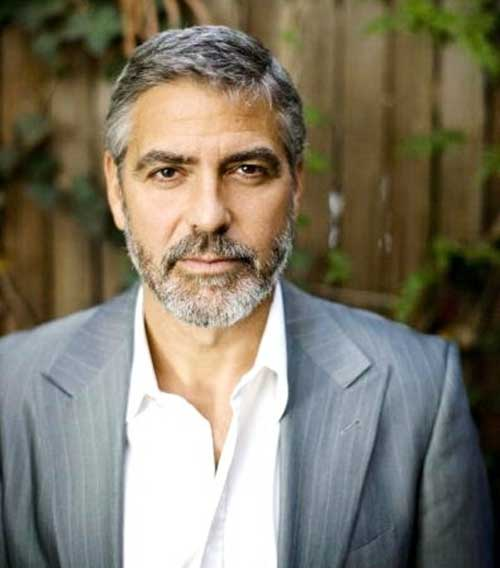 George Clooney Hollywood Men Short Hair