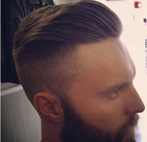 Guy Haircuts Fade with Pompadour