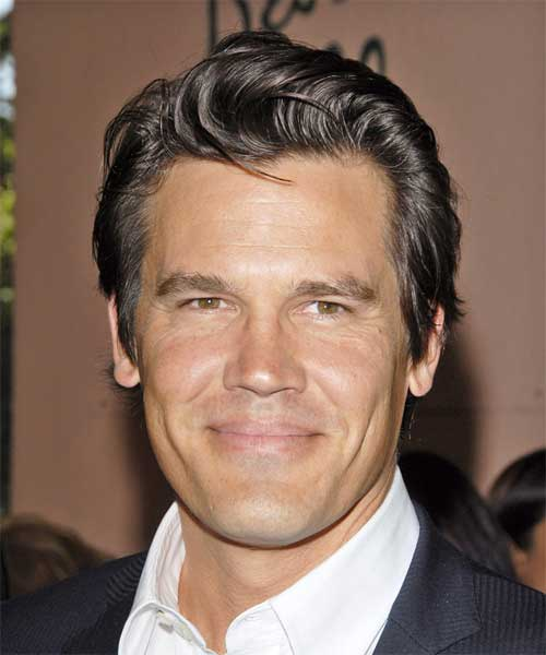 Josh Brolin Slicked Back Hair
