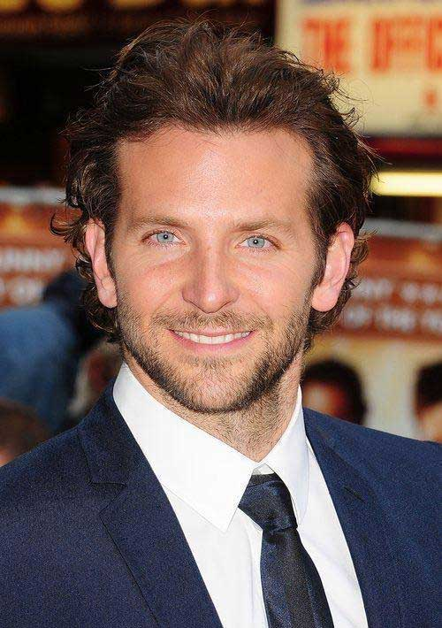 Medium Slicked Curly Hair Male Celebrities