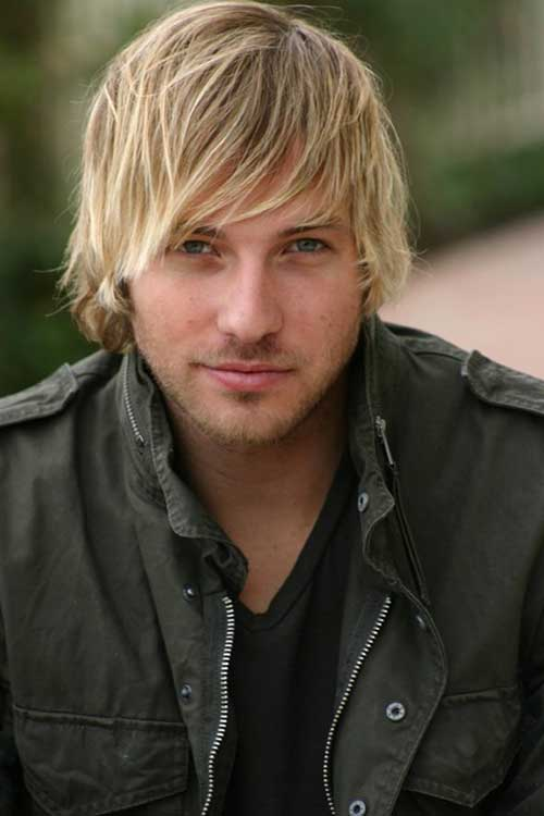 Men Blonde Long Hair Color
