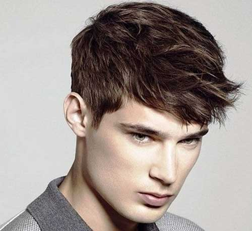 Men Short Hair with Straight Hairstyle