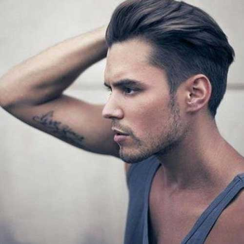 Men Straight Slicked Short Hair