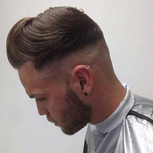Men Undercut Back View