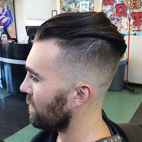 Mens Faded Cut Back Hairstyle