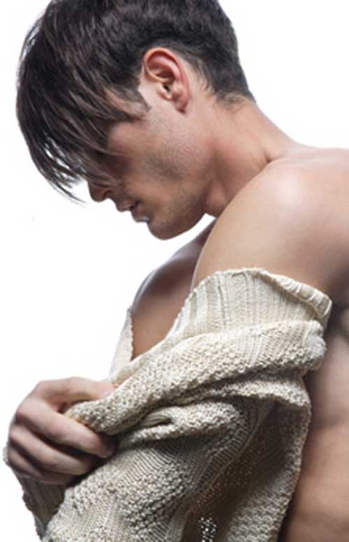 Mens Long Hair with Fringe Cut Style