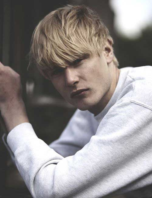Mens Blonde Shaggy Hairstyles