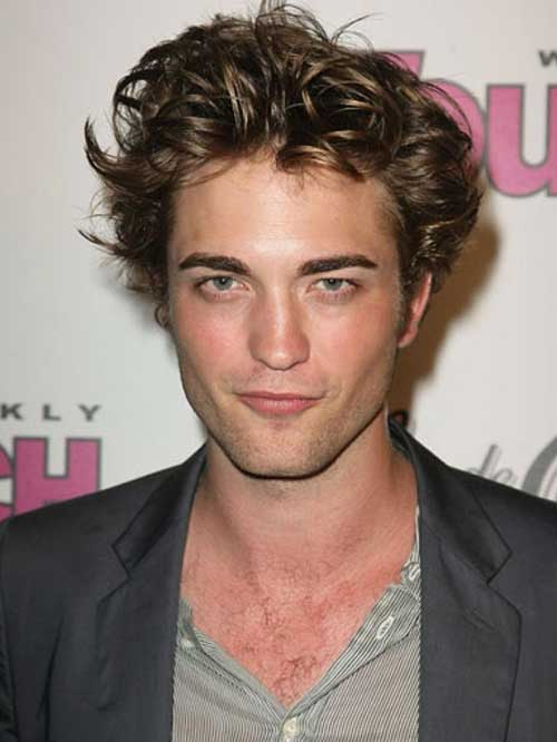Robert Pattinson Messy Short Hair