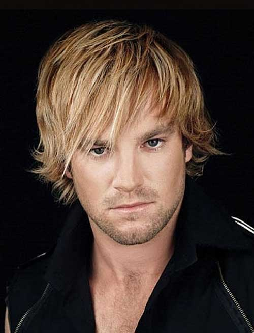 Shaggy Straight Blonde Hairstyles for Men
