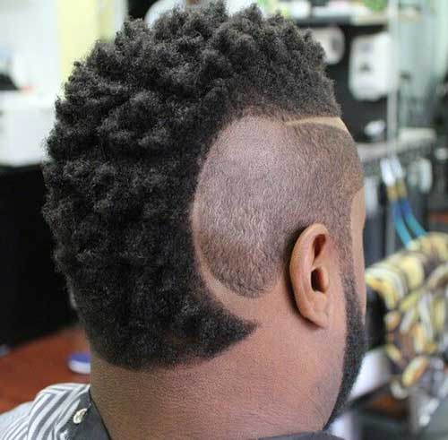 Different Shaved Mohawk Styles For Black Men