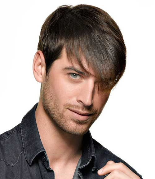 Side Medium Long Fringe Men Hairstyles