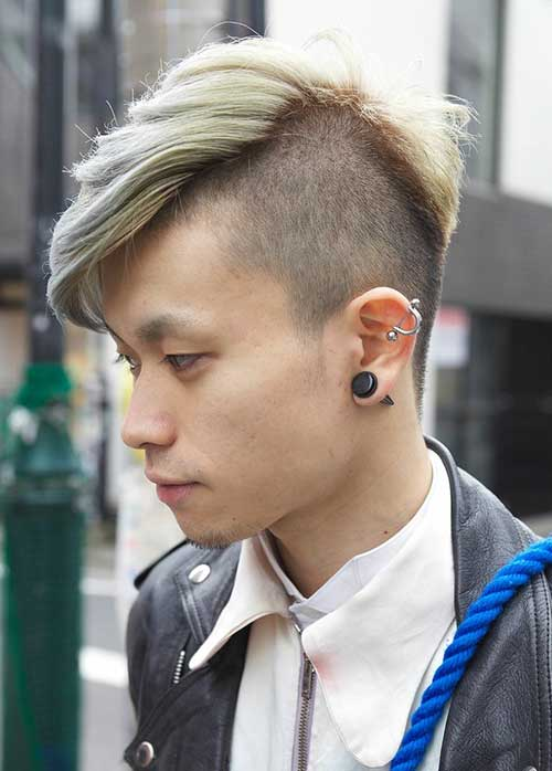 Side Shaved Long Top Men Hairstyles