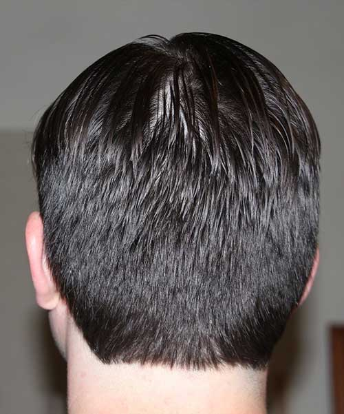 Simple Men Haircut Back View