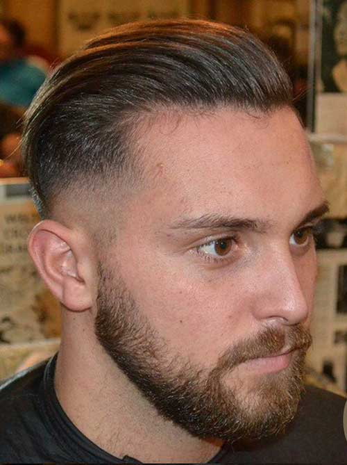 Slicked Back Faded Men Hairstyles