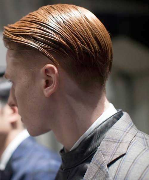 Slicked Hair Back View for Men