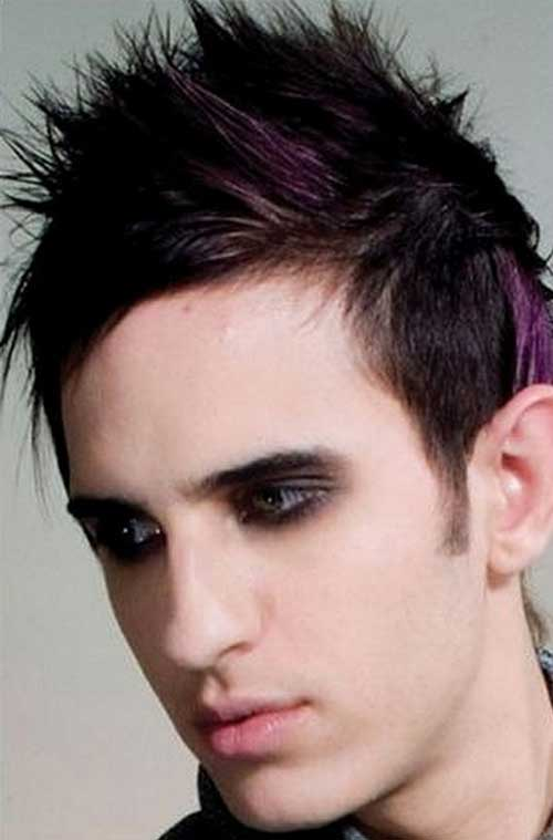 Spikey Dark Brown Men Hair Color