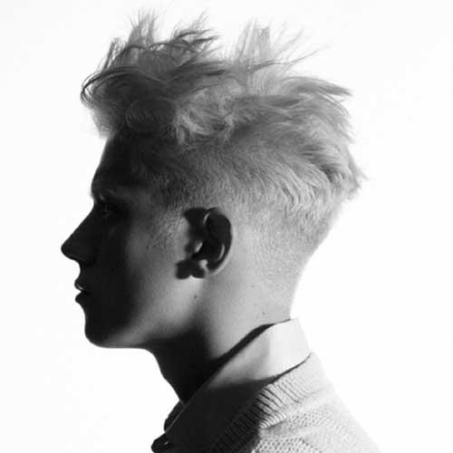 Spiky Blonde Men Hairstyles