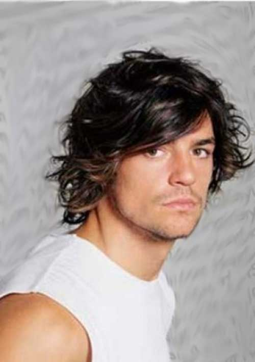 Wavy Fringe Hairstyles for Men Long Hair