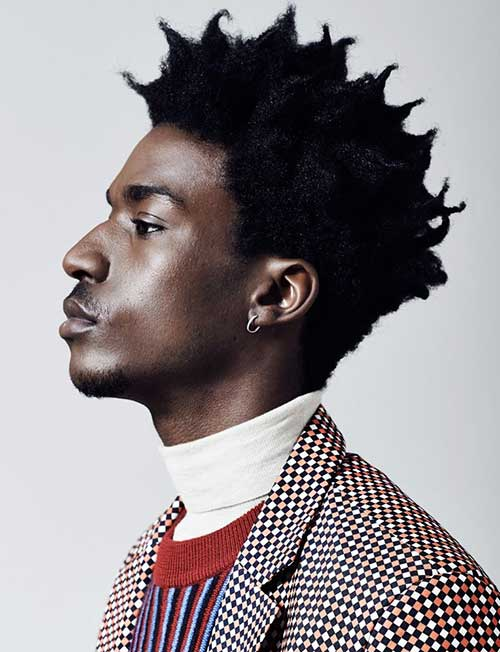 African Men Curly Spiky Hairstyle