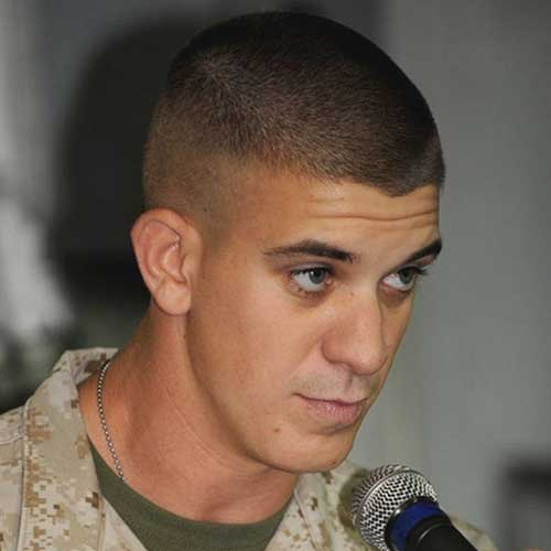 Army Cut Hairstyles for Men with Oval Faces