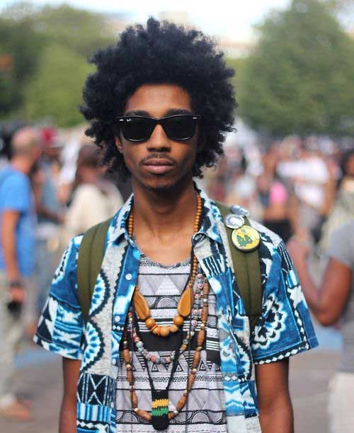 Black Male Afro Hairstyles 2014