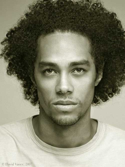 Black Men Afro Hairstyle 2014