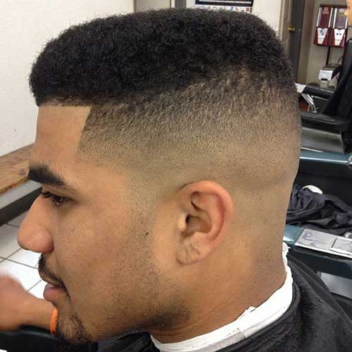 Black Men Taper Faded Style Haircut