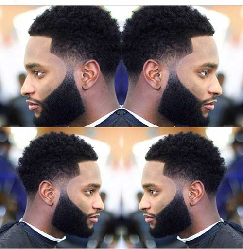 Trendy Black Men Taper Haircut