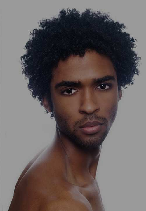 Black Mens Thick Fro Curly Hairstyles