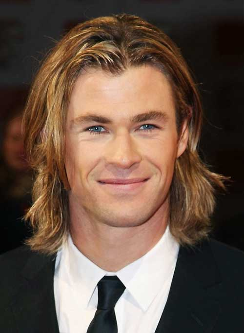 Blonde Fine Long Haircuts for Guys