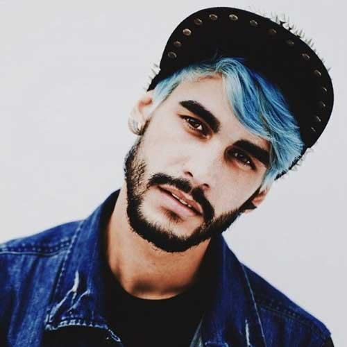 15 Guys With Blue Hair  Mens Hairstyles 2017