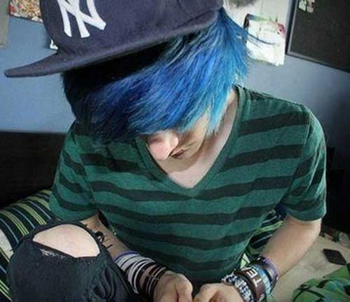 15 Guys With Blue Hair The Best Mens Hairstyles Amp Haircuts