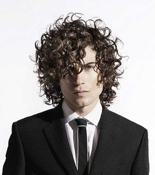 Brown Curly Hairstyles Guys
