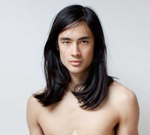 Chinese Men Long Hairstyle Idea