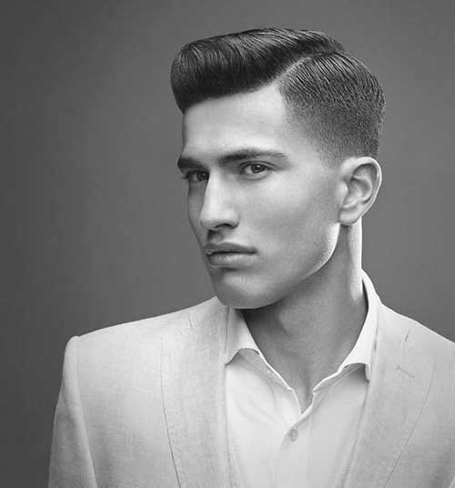 Classic Dark Mens Haircut Idea 2015
