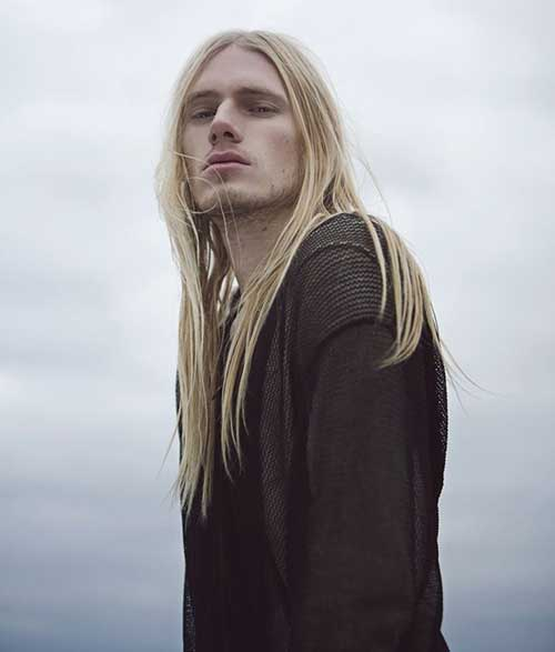Cool Guys Hairstyles with Long Blonde Hair Ideas