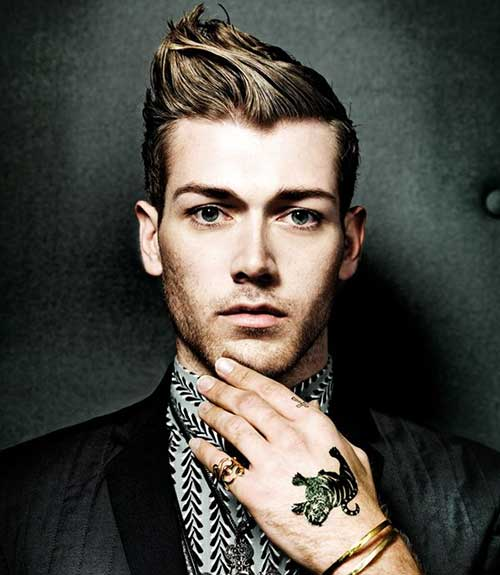Cool Light Brown Hairstyle for Men