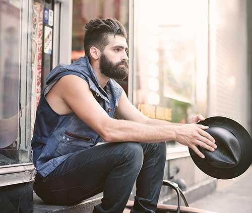 Cool Men Dark Hairstyle
