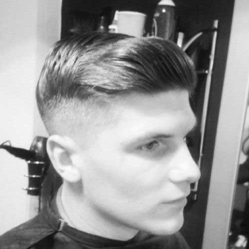 Cool Mens Haircut Shaved Sides Pics