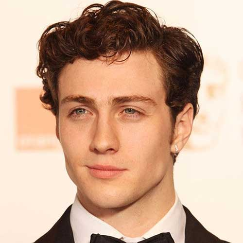 Curly Casual Haired Male Celebrities