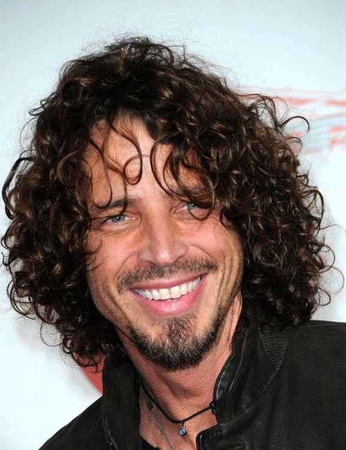 Curly Long Hairstyles for Guys