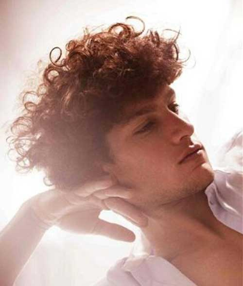 Curly Long Top Hairstyles for Guys