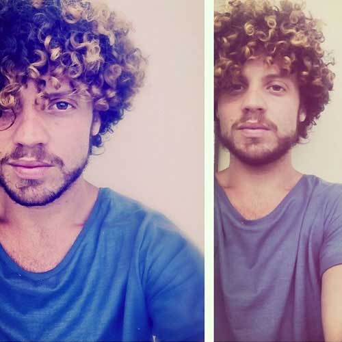 Curly Medium Thick Hairstyles for Guys