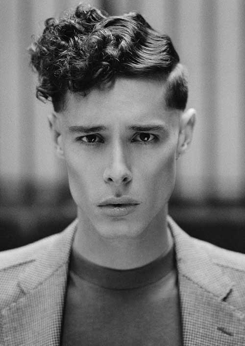 Curly Pompadour Hairstyles for Guys
