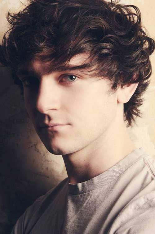 Curly Short Dark Hairstyles for Guys