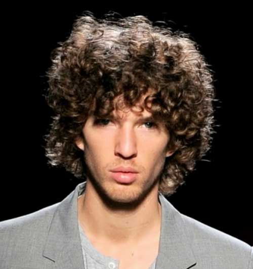 Curly Thick Hairstyles for Guys
