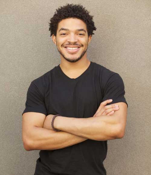 Cute Black Men Short Afro Hair Twists Styles